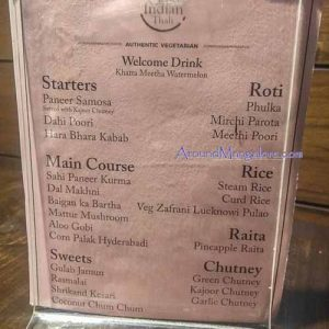 Food Menu - The Grand Indian Thali - City Center, Mangalore