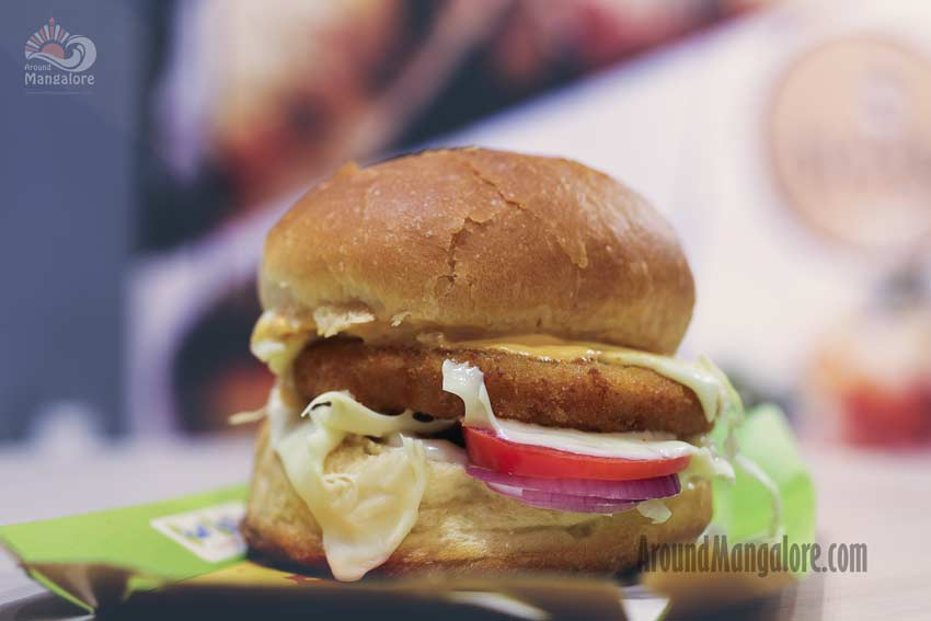 WOW Cheese Blast Classic Crunchy Burger - Dhaba Cafe, Mangalore