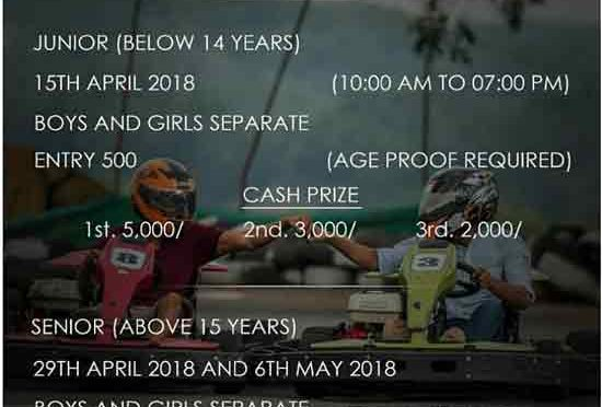 ANNUAL GO-KARTING CHAMPIONSHIP 2k18 - 29 Apr 2018 & 06 May 2018 - Cafe Kart, Kannur, Mangalore - Event