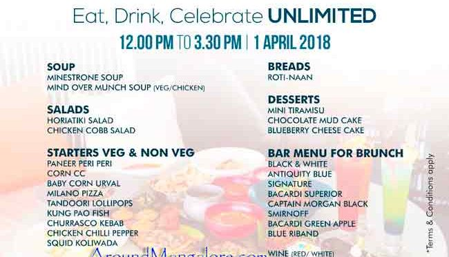 Easter Brunch - 01 April 2018 - ONYX Lounge, MG Road, Mangalore