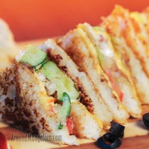 Veg and Cheese Sandwich - The Cake Club - Bejai Kapikad Road, Mangalore