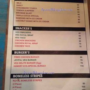 Food Menu - Hungry KYA - Deralakatte, Mangalore