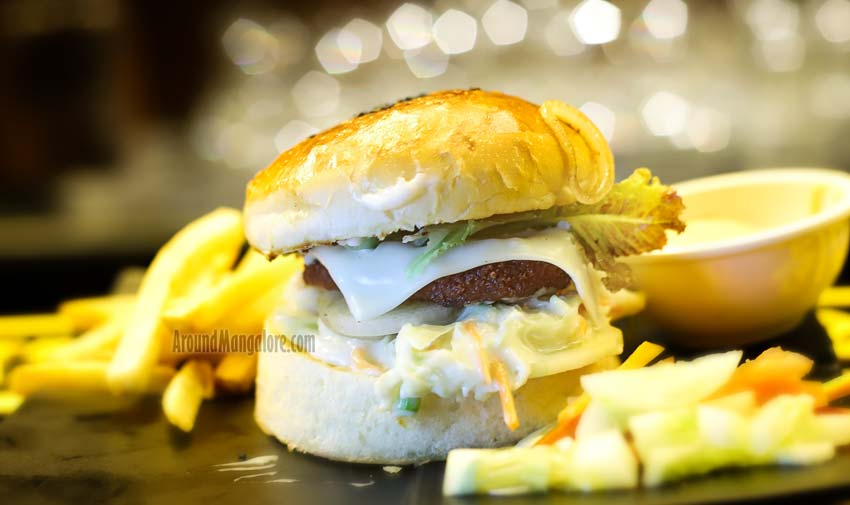 Chicken Cheesy Burger - G77 - Lounge - Goldfinch Hotel, Mangalore