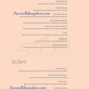 Food Menu - Aurfila Restaurant - MG Road, Ballalbagh, Mangalore