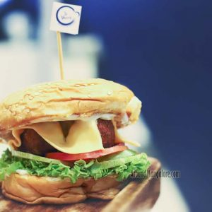 Veg Cheese Burger - Le Shaay Cafe - MG Road, Kodialbail, Mangalore