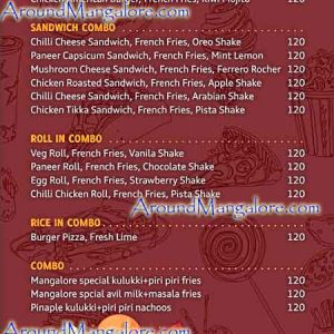 Food Menu - IAM Cafe - Attavar, Mangalore