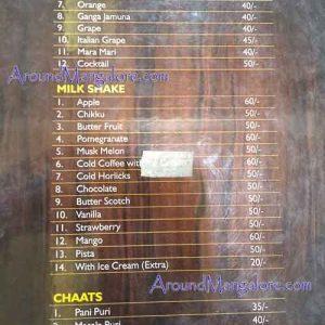Food Menu - Sri Krishna Vilasa - Pure Veg Restaurant - Urwastores, Mangalore
