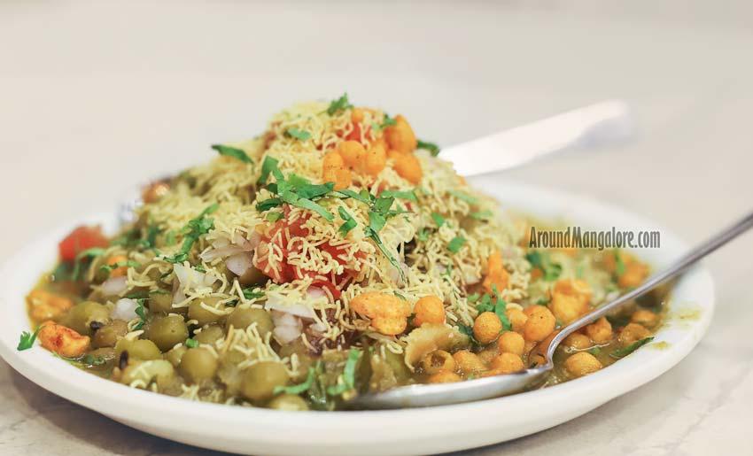 Samosa Chaat - Mathura Vegetarian Restaurant - Saibeen Complex, Lalbagh, Mangalore
