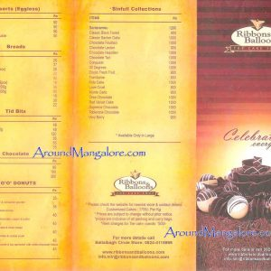 Cake (Food) Menu - Ribbons and Balloons - Ballalbagh, Mangalore