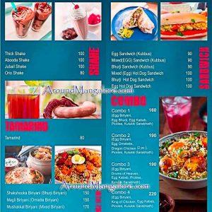 Food Menu - Avil Milk - City Centre Food Court, Mangalore