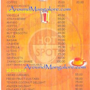 Food Menu - Jamaican Hotspot Cafe - MG Road, Mangalore