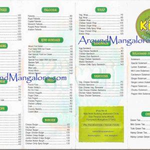 Food Menu - Kiwi - Mangalore