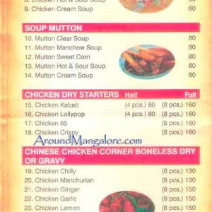 Food Menu - The Grill Gate - Yeyyadi, Mangalore