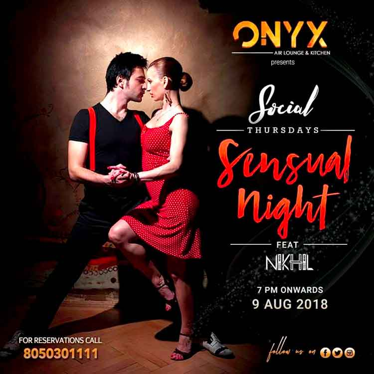 Social Thursdays - 9 Aug 2018 - ONYX Air Lounge & Kitchen, Mangalore