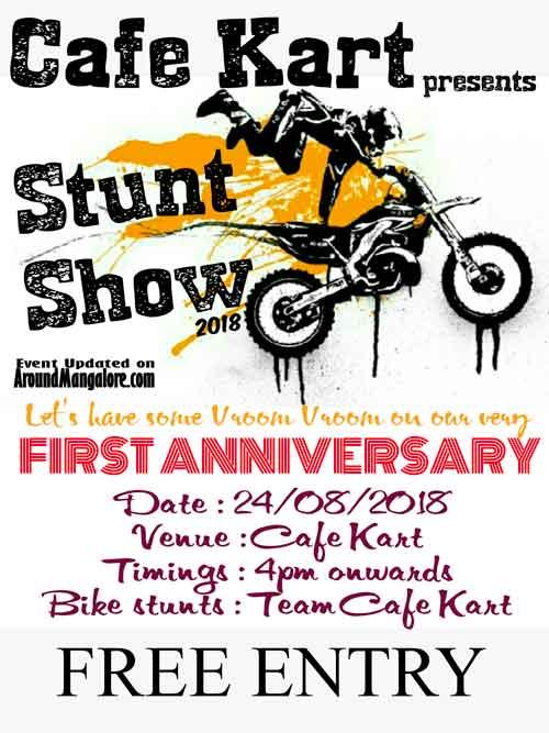 Stunt Show 2018 - 24 Aug 2018 - Cafe Kart, Mangalore