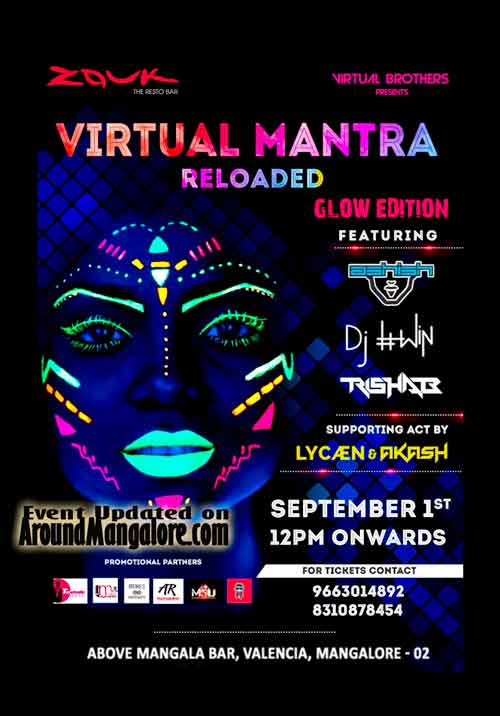 Virtual Mantra Reloaded - 01 Sep 2018 - Zouk - The Resto Bar, Mangalore