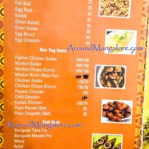 Food Menu - Hotel Sushmitha - Kuntikana, Mangalore