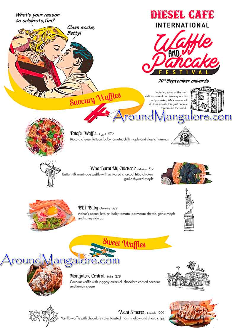 International Waffle and Pancake Festival - Sep 2018 - Diesel Cafe, Mangalore