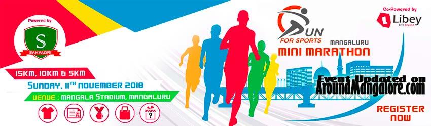MANGALURU MINI MARATHON - RUN FOR SPORTS - 11 Nov 2018 - Mangala Stadium, Mangalore