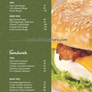 Food Menu - Bake Studio - Cafe - Cake Shop - Hampankatta, Mangalore