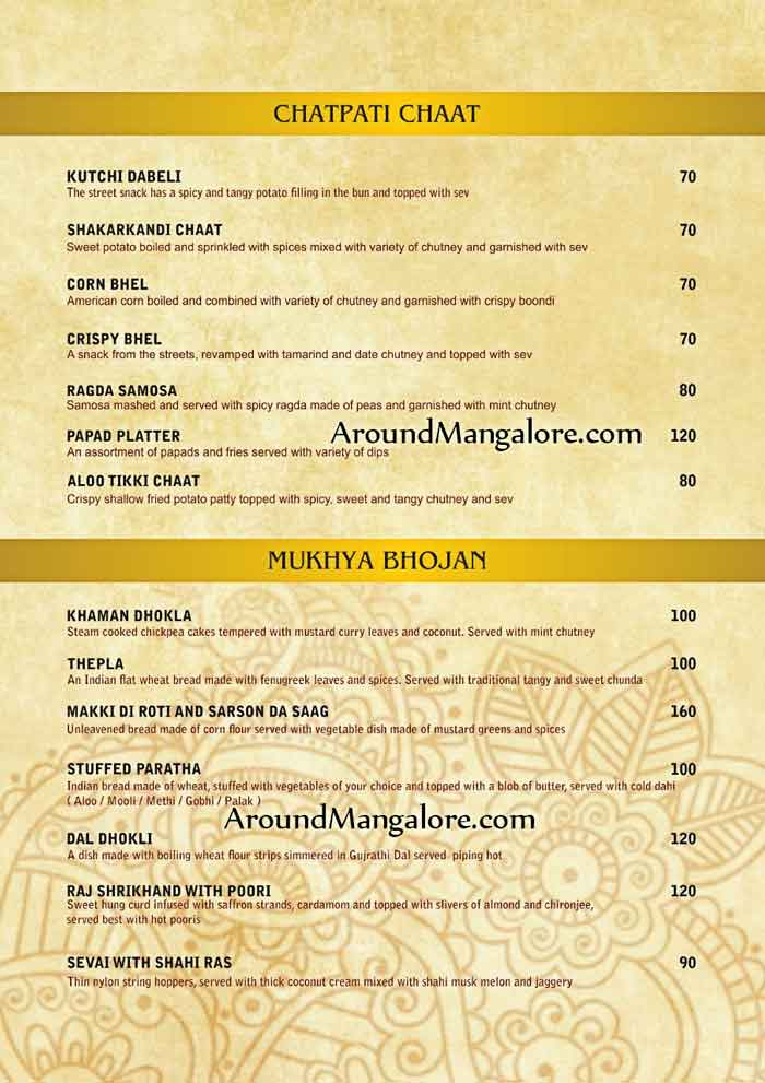 Food Menu - Navaratri Ke Nav Bhog - 10 to 19 Oct 2018 - Hotel BMS, Mangalore