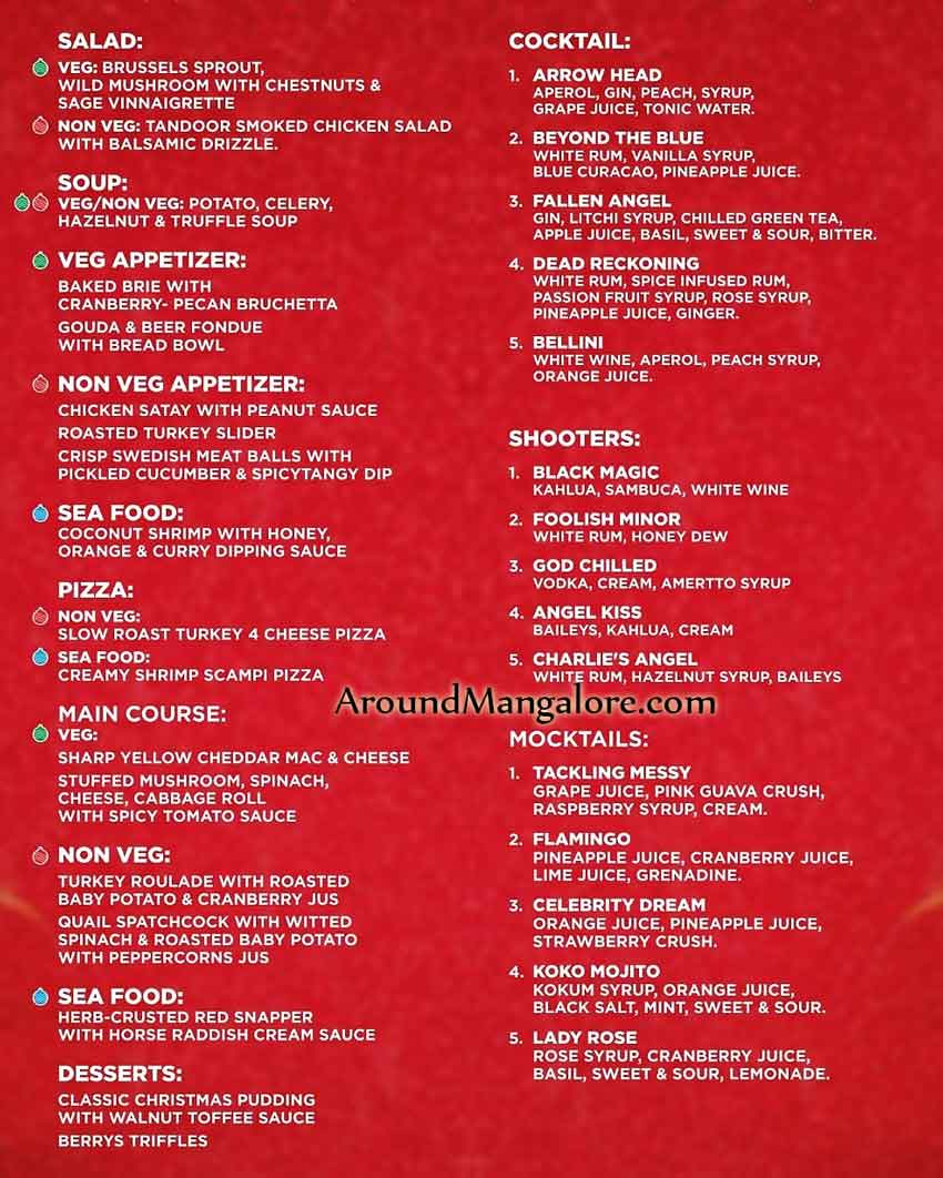 7 dishes that you shouldn't miss this Christmas at Onyx Air Lounge Dec 2018 Mangalore - Christmas 2018 - Crib - Decorations - Celebrations - Events - Around Mangalore