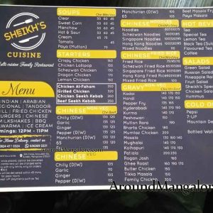 Food Menu - Sheikhs Cuisine - Bunder, Mangalore