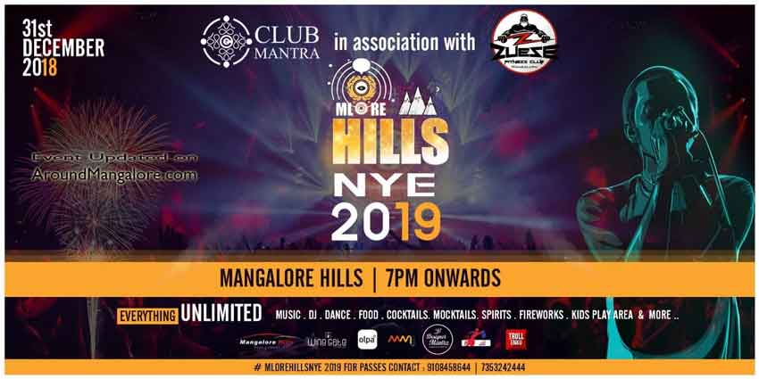 Mlore Hills NYE Party - 31 Dec 2018 - Mangalore Hills, Mangalore