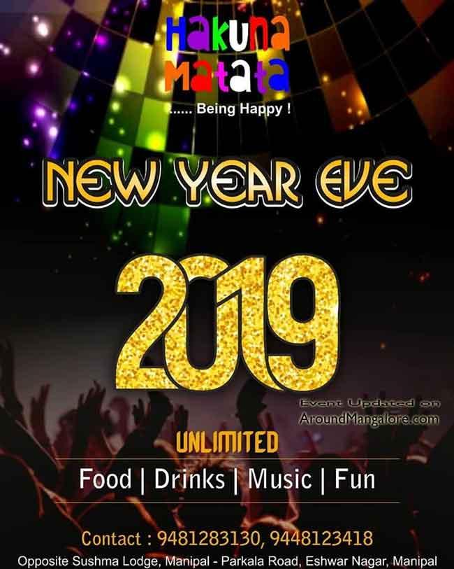 New Year Eve 2019 - Hakuna Matata, Manipal