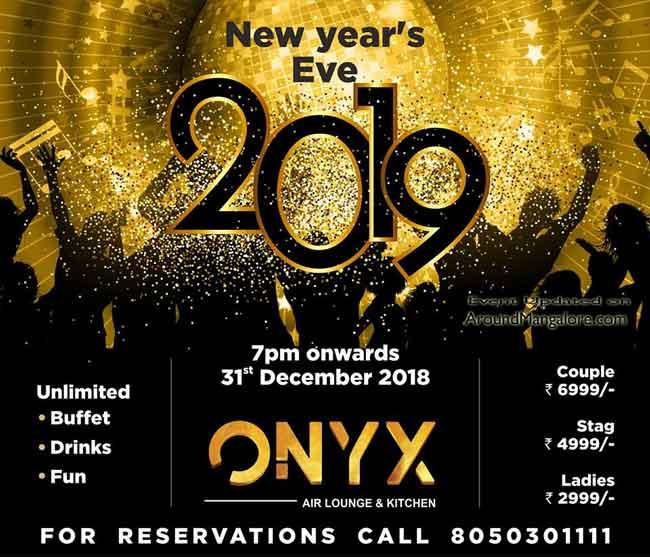 New Year's Eve 2019 - ONYX Air Lounge & Kitchen, Mangalore