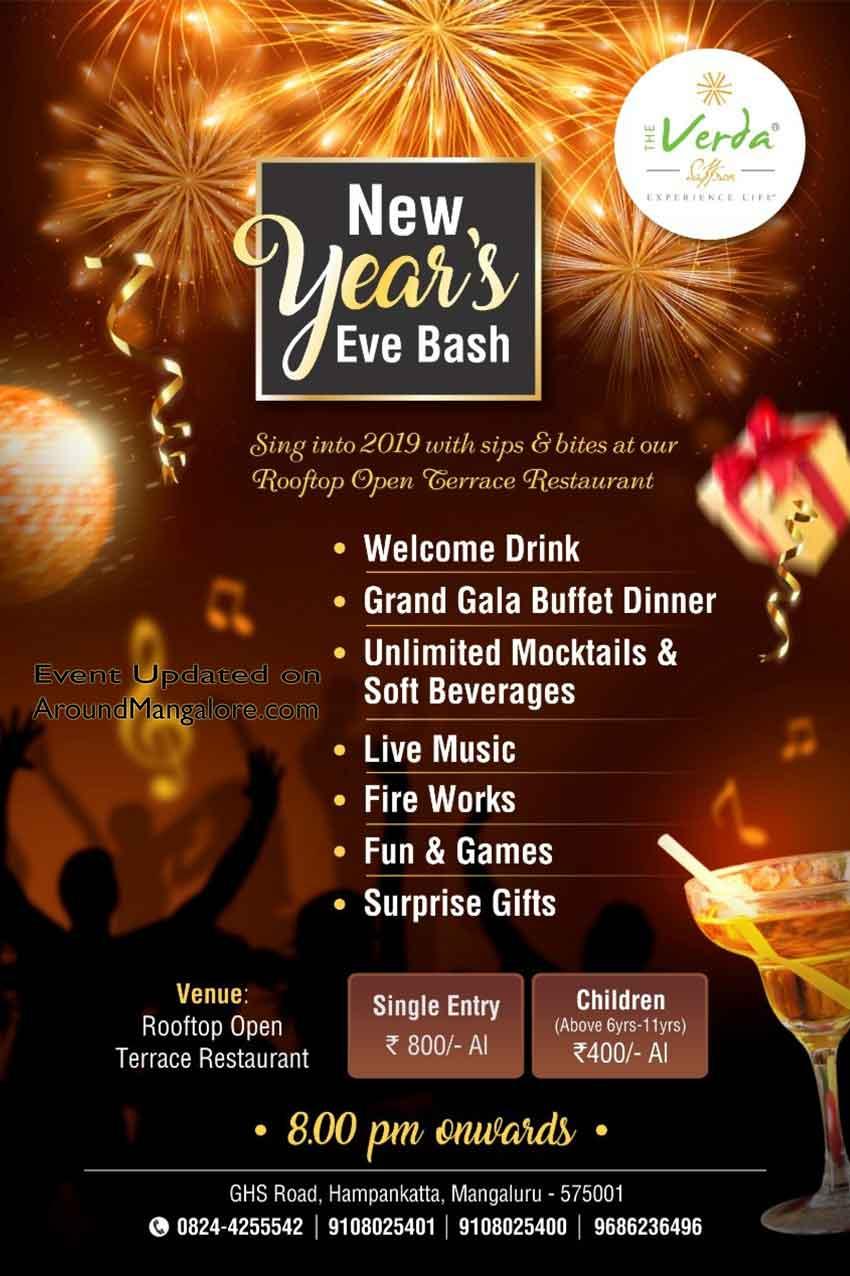 New Year's Eve Bash - The Verda Saffron- Mangalore