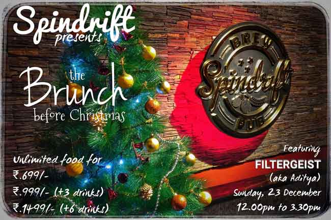 The Brunch before Christmas - 23 Dec 2018 - Spindrift, Mangalore