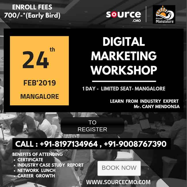 Digital Marketing Workshop - 24 Feb 2019 - Mangalore