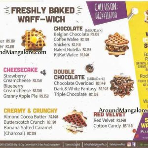 Food Menu - Belgian Waffle - City Centre Mall, Hampankatta, Mangalore