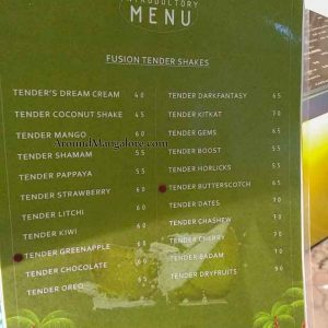 Food Menu - Fresh Fusion - Deralakatte, Mangalore