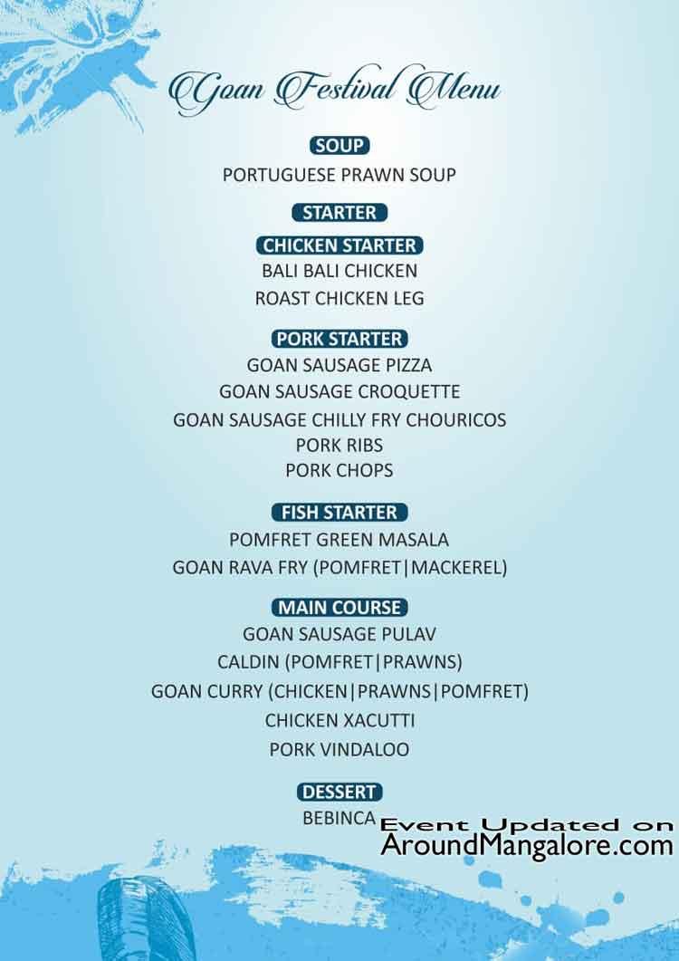 Goan food Festival at La Goa - 26 to 28 Jan 2019 - La Goa, Mallikatte, Mangalore