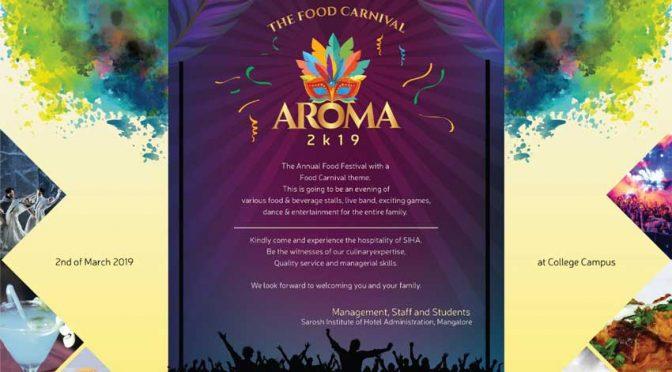 Aroma 2K19 - Food Carnival - 2-Mar-2019 - SIHA - Sarosh Institute of Hotel Administration