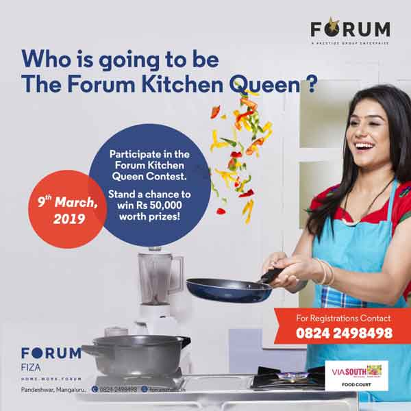 Forum Kitchen Queen Contest - 9 Mar 2019 - Forum Fiza Mall, Mangalore