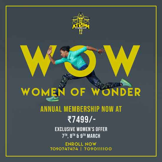 Atomm Fitness club - International Womens' Day - 2019 - Special Offers