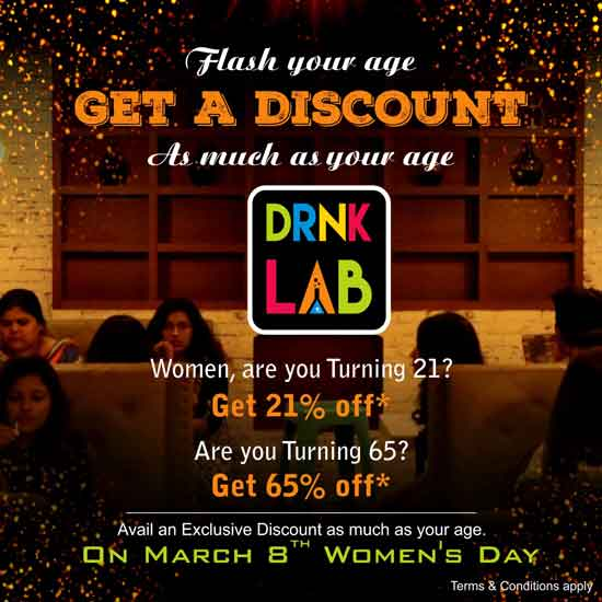 Drnk Lab - International Womens' Day - 2019 - Special Offers