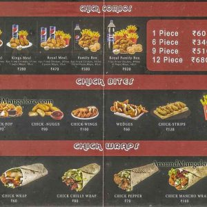 Food Menu - Chickway, Deralakatte, Mangalore