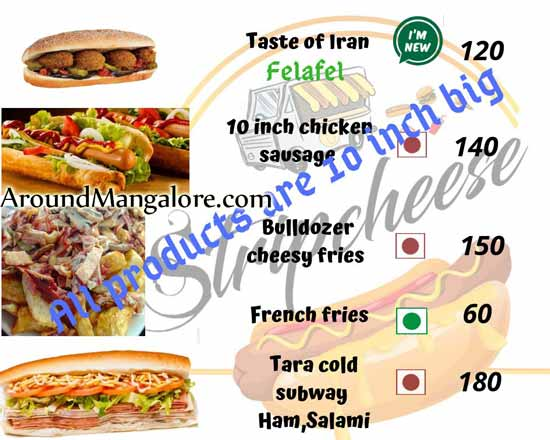Food Menu - Stripcheese - Food Truck - Mangalore