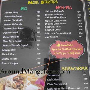 Food Menu - Swadisht Restaurant - Pumpwell, Kankanady, Mangalore