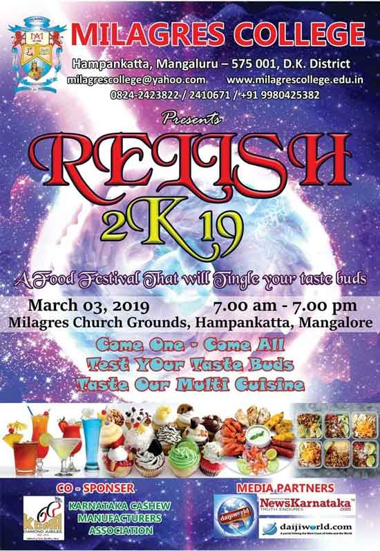 Relish 2K19 - 3 Mar 2019 - Milagres Church Grounds, Hampankatta, Mangalore