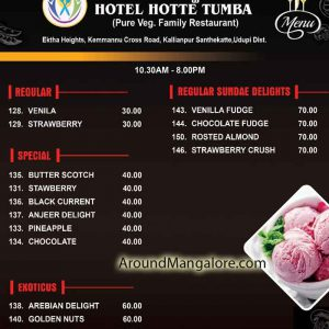 Food Menu - Hotte Thumba Restaurant – Udupi