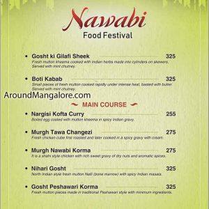 Non-Veg Food Menu - Nawabi Food Festival 2019 - The Verda Saffron, Mangalore