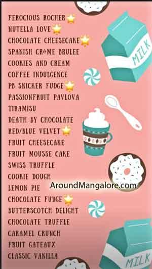 Cake Menu - Dolce By Anusha Shetty - dessertsbydolce - Udupi, Manipal & Mangalore