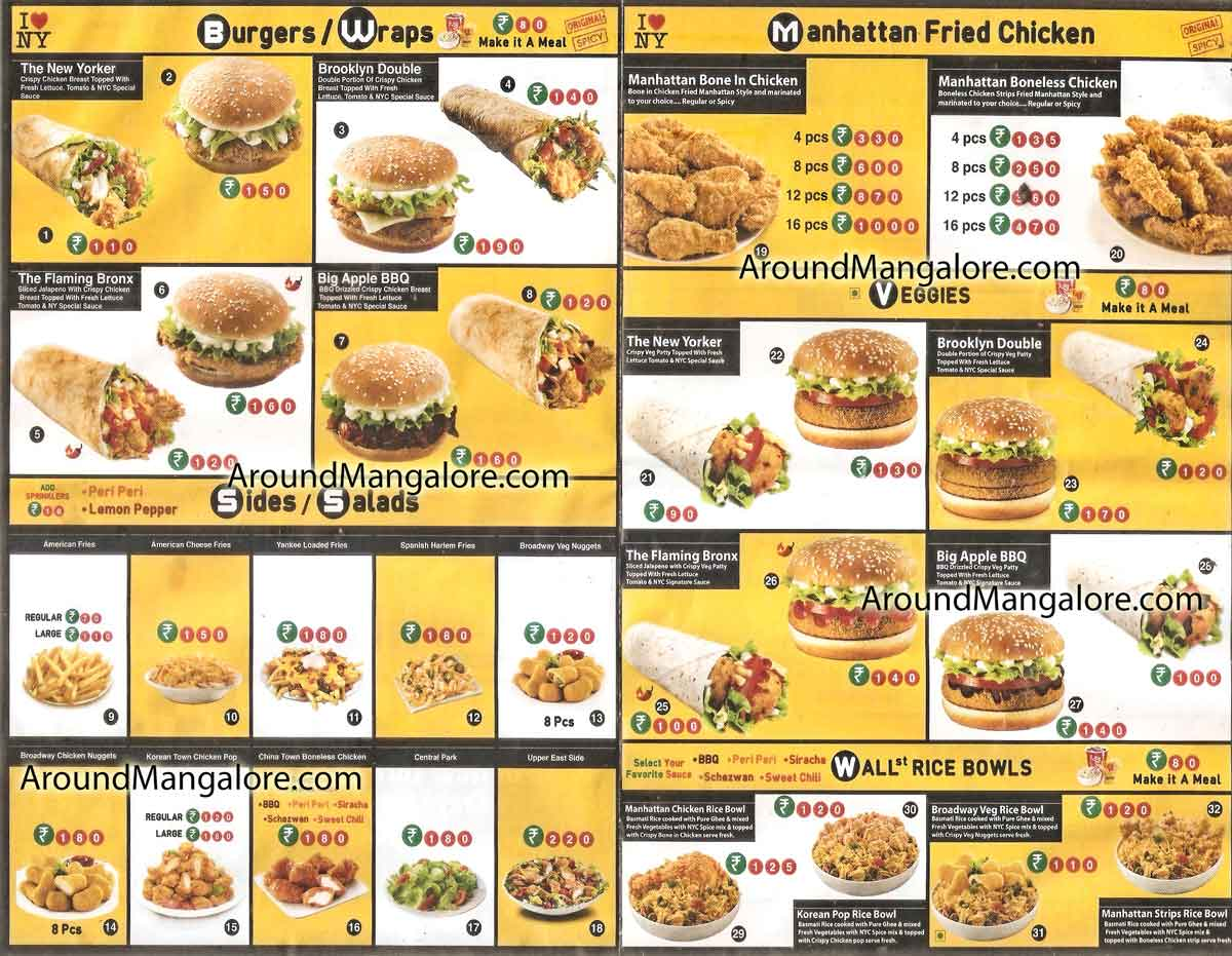 Food Menu New York Chicken Deralakatte Mangalore P1 - New York Chicken - Deralakatte