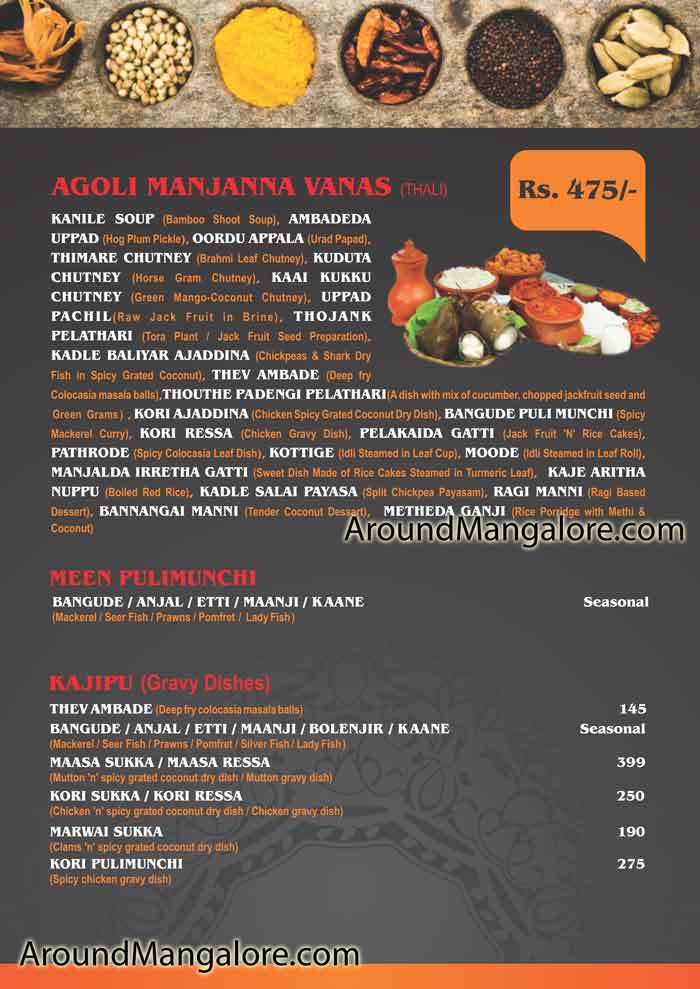 Food Menu - Aati Mansoon Food Festival 2019 - 17 Jul to 16 Aug 2019 - Simbly South, Mangalore