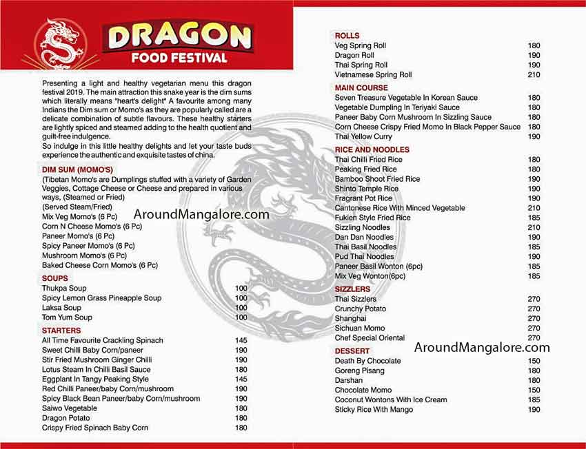 Dragon Food Festival - 19 to 28th Jul 2019 - Udupi - Around